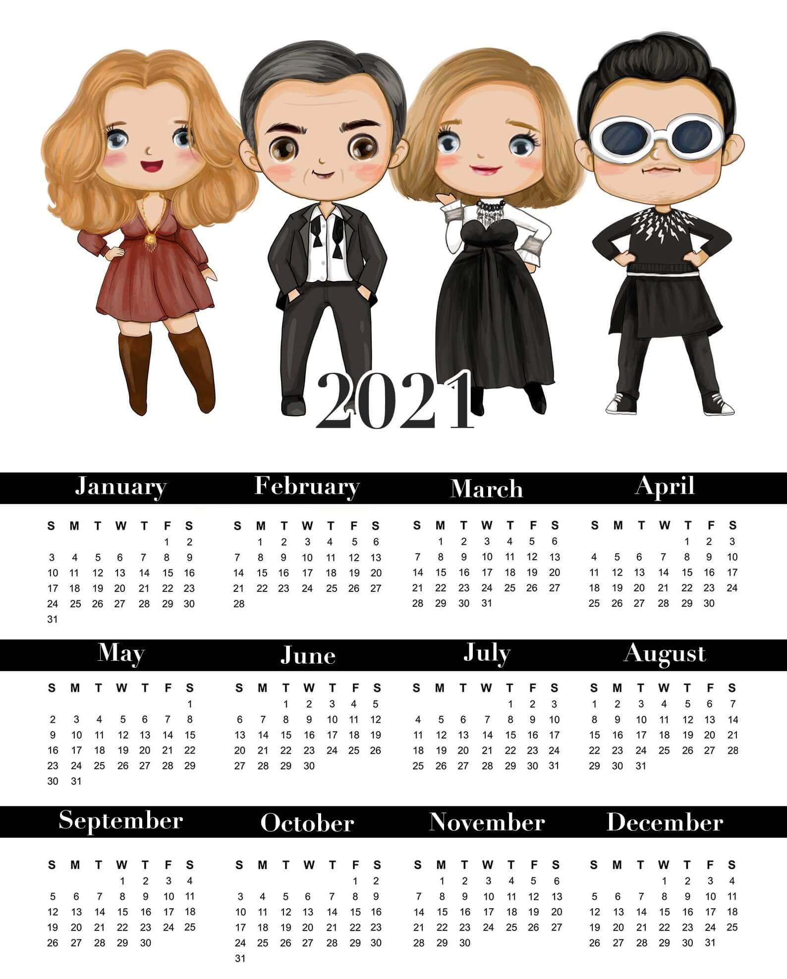 New Year Calendar 2021 Images